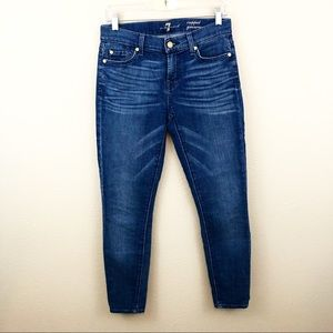 7 Seven For All Mankind Cropped Gwenevere 26 Blue